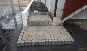 アスファルト舗装・ティーナ階段工事