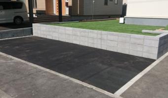 アスファルト舗装・塀工事