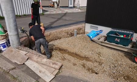 根掘り、掘削工事