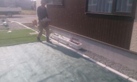 防草シート/人工芝貼