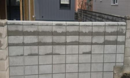 普通ブロック塀施工後