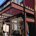 鉄骨カーポート解体作業