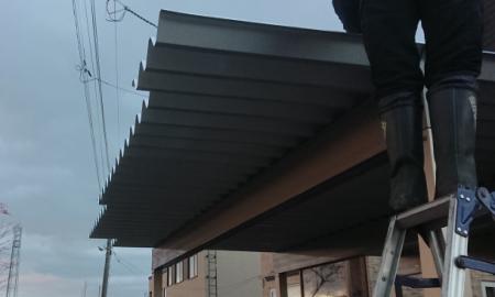 屋根取付け