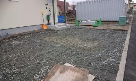 砕石路盤工事